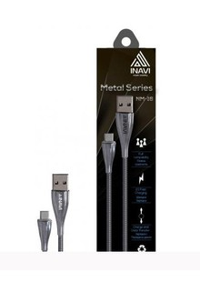 USB cable INAVI Iphone 5 (NM-16) (серебряный)