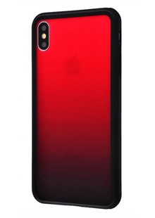 Glass gradient transparent case iPhone Xs Max (red)