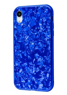 Magnette glass case Full 360 Jelly Eye series iPhone Xr (blue)