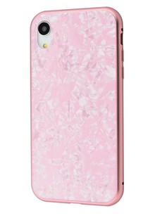 Magnette glass case Full 360 Jelly Eye series iPhone Xr (pink)