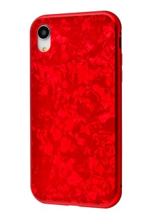 Magnette glass case Full 360 Jelly Eye series iPhone Xr (red)
