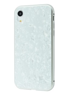 Magnette glass case Full 360 Jelly Eye series iPhone Xr (white)