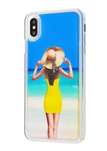Naked girl case iPhone Xs Max (yellow)