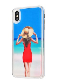 Naked girl case iPhone Xs Max (red)