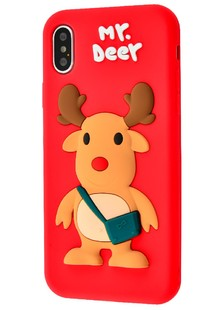 TPU case with animal iPhone X/Xs (deer)