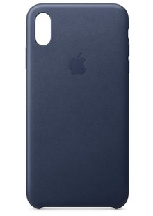 Leather case (Leather) iPhone Xs Max (midnight blue) copy