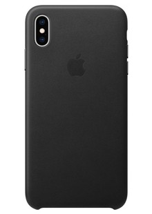 Leather case (Leather) iPhone Xs Max (black) copy