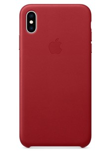 Leather case (Leather) iPhone Xs Max (red) copy