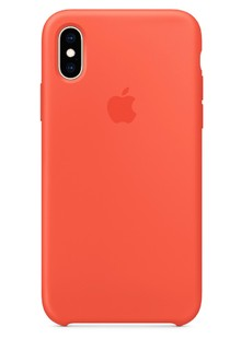 Silicone Case iPhone Xs nectarine