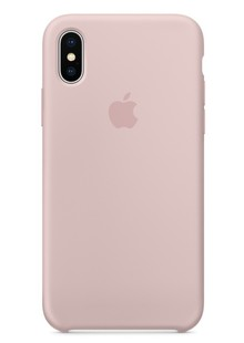 Silicone Case iPhone Xs (pink sand)