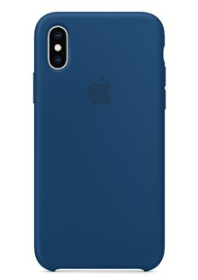 Silicone Case iPhone Xs (midnight blue)