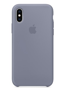 Silicone Case iPhone Xs (lavender gray)