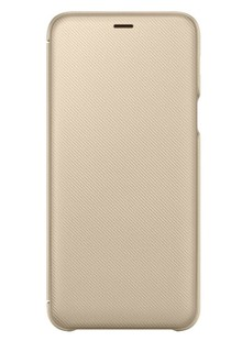Чехол SAMSUNG A6+ 2018/A605 - Wallet Cover (Gold)