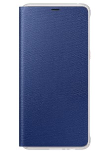 Чехол Neon Flip Cover A8 Plus 2018 EF-FA730PLEGRU blue