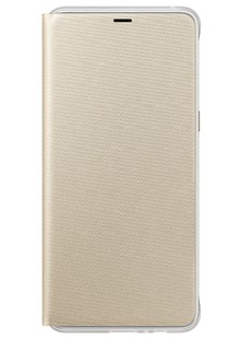 Чехол Neon Flip Cover A8 Plus 2018 EF-FA730PFEGRU gold