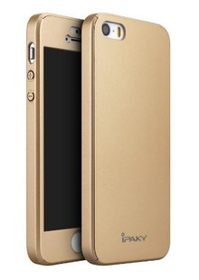 Чехол iPaky Leather Case iPhone 5 gold