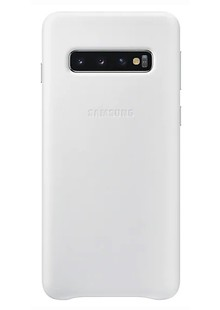 Чохол SAMSUNG S10/EF-VG973LWEGRU - Leather Cover (White)