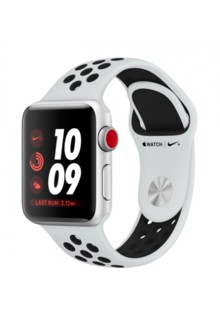 Apple Watch Series 3 Nike+ (GPS + LTE) 38mm Silver Aluminum w. Pure Platinum/BlackSport B. (MQL52)