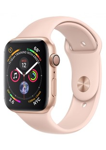 Apple Watch Series 4 (GPS) 44mm Gold Aluminum Pink Sand Sport Band ( MVT02)