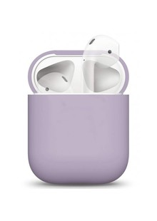 Silicone Case Ultra Slim for AirPods (lavender gray)