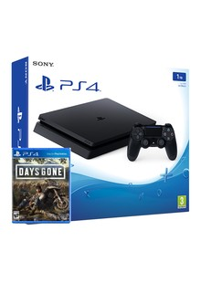 Консоль игровая SONY PS4, 1 TB, Black, Pro, +Days Gone