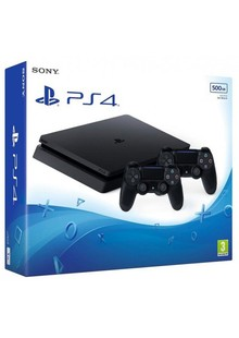 Консоль игровая SONY PS4, 500GB, Black, Slim, +Dualshok4 V2