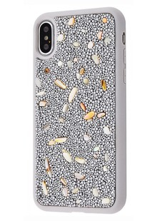 Bling World Pearl Diamonds (TPU) iPhone Xs Max (silver)