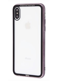 Totu Style electroplating version (PC+TPU) iPhone Xs Max (black/gray)