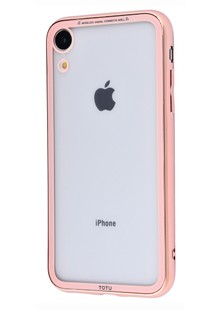 Totu Style electroplating version (PC+TPU) iPhone Xs Max (gold/pink)