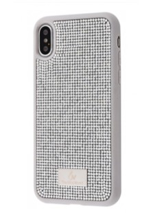 Bling World Circle Diamonds (TPU) iPhone X/Xs (silver)
