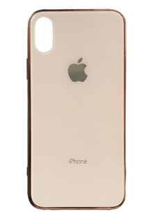 Glass iPhone case iPhone X/Xs (gold)