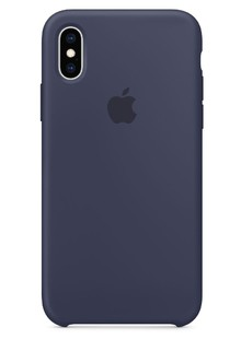 Silicone Case iPhone Xs (Mignight Blue)