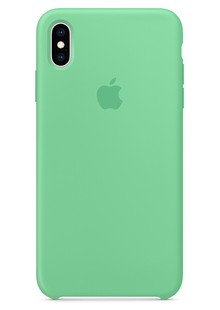 Silicone Case iPhone Xs (Spearmint)
