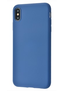 Silicone cover My colors (TPU) iPhone X/Xs (dark blue)