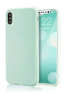 Silicone cover My colors (TPU) iPhone X/Xs (mint gum)
