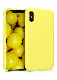 Silicone cover My colors (TPU) iPhone X/Xs (yellow)
