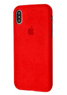 Накладка Alcantara 360 Protect iPhone X/XS (red)