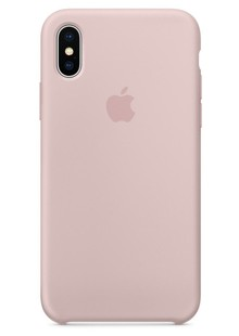 Чехол iPhone Xs - Silicone case Pink Sand  (MTF82)