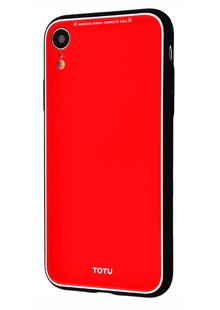 Totu Style Series Case (Glass+TPU) iPhone Xr (red)