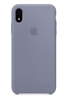 Накладка IPHONE Xr Silicone case Lavender Gray