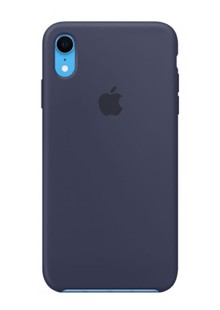 Накладка IPHONE Xr Silicone case midnight blue