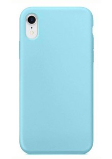 Накладка IPHONE Xr Silicone case turquoise