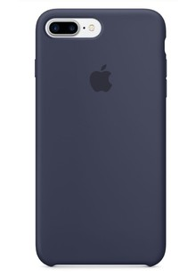 Apple Silicone Case for iPhone 8 Plus Midnight Blue 1in1