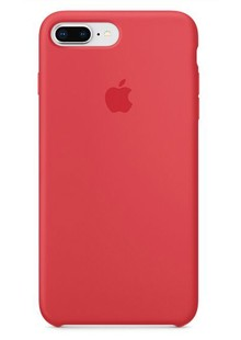 Apple Silicone Case for iPhone 8 Plus Raspberry Red 1in1