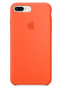 Apple Silicone Case for iPhone 8 Plus Spicy Orange 1in1