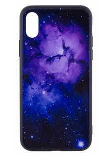 TPU+Glass чехол Космос Apple Iphone 8 plus (5.5) purple